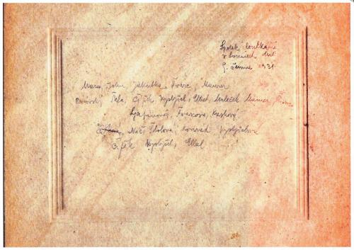 Spolek loutkářů v Lounech 9. června 1931 popis